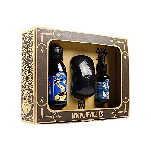 HEY JOE - Bearded Survival KIT Nº3 | Kit de arreglo barba que incluye: aceite, champú y cepillo para barba