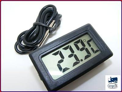 Digitalthermometer digital Thermometer für Terrarium und Aquarium von Campo24