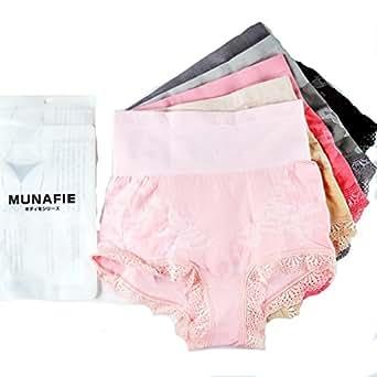 MUNAFIE Womens Shapewear Seamless Hi-waist Brief Panty ...