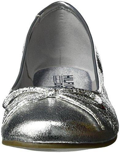 Tommy Hilfiger A1385llen 15z, Ballerine Donna Argento (Silver 019)