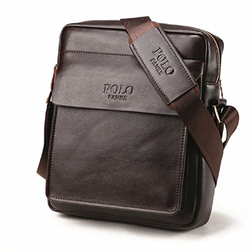 4FSGLOBAL FASHION Men Designer Briefcase Business Shoulder Bag Cross-body Messenger Bag For Men (24*7*28cm, brown) (Designer Cross Body Bag)