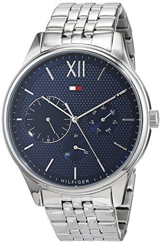 Tommy Hilfiger Herren Multi Zifferblatt Quarz Uhr mit Edelstahl Armband 1791416 -