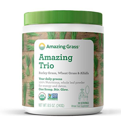 Amazing Grass - The Amazing Trio Barley, Weizen-gras & Alfalfa Ganz Essen Trinken - 8.50 oz. (Gras Essen)