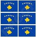 Kosovo kosovarischer Flagge Kosovo 40mm (40,6cm) Mobile Handy Vinyl Mini Sticker, Aufkleber X6