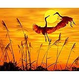 DAMENGXIANG DIY Hand Gemalt Digitale Ölbild Sonnenuntergang Niedliche Tier Pflanze Landschaft Moderne Abstrakte Kunst Bilder Für Wohnzimmer Home Decor