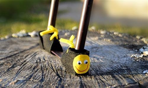 Bodenschoner Smiley für Bierzeltgarnitur, Schutz für Biertisch und Bierbank