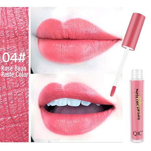 Lippenstift,Förderung,PorLous 2019 Neu Schönheit Matte Sexy Liquid Lip Gloss Langlebig wasserdicht 24 Stunden halten Feuchtigkeitsspendend Dauerhaft 4