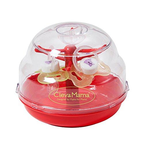 Clevamama – Esterilizador de Chupetes para Microondas sin BPA, incluye 2 chupetes de silicona