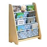 Xi Man Shop Holz Kinder Bücherregal Kinder Bücherregal Kinder Floorstanding Bibliothek Buch Wand Kindergarten Schule blau Bücherregal