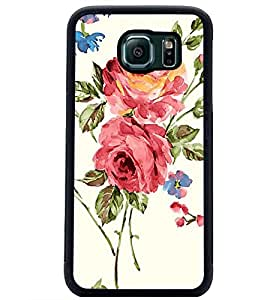 PrintDhaba Flower D-2214 Back Case Cover for SAMSUNG GALAXY S6 (Multi-Coloured)