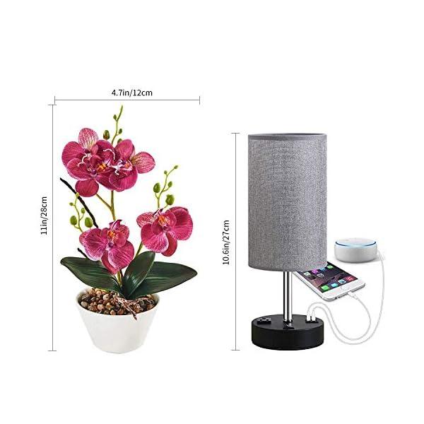 Asvert Flores Artificiales de Seda de Orquídeas de Mariposa Decoración de Hogar de Planta de Flor Artificial de Orquídea