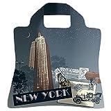 Envirosax Einkaufstasche, Design: New York bei Nacht, wiederverwendbar, faltbar