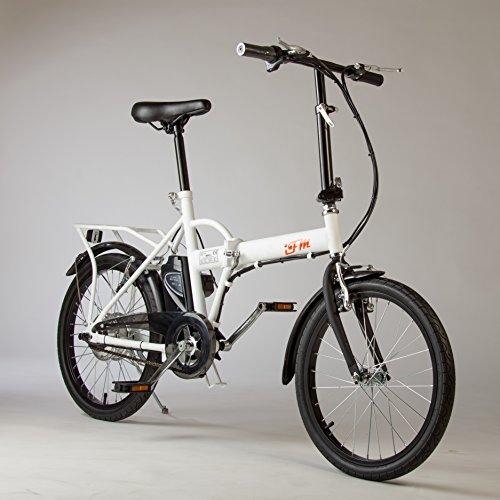 Bicicletta Elettrica IFM Bianca Pieghevole Batteria Litio
