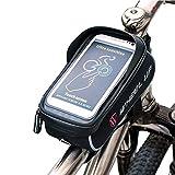 Winiron Fahrrad Rahmentasche Wasserdichte Fahrradtasche Handytasche mit Kopfhörerloch für Fahrrad 6 Zoll Smartphone Fahrrad Halterung