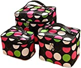 HOYOFO Large Volume Travel Wash Organizer Case Toiletry/Cosmetic/Make-up Bags Set of 3