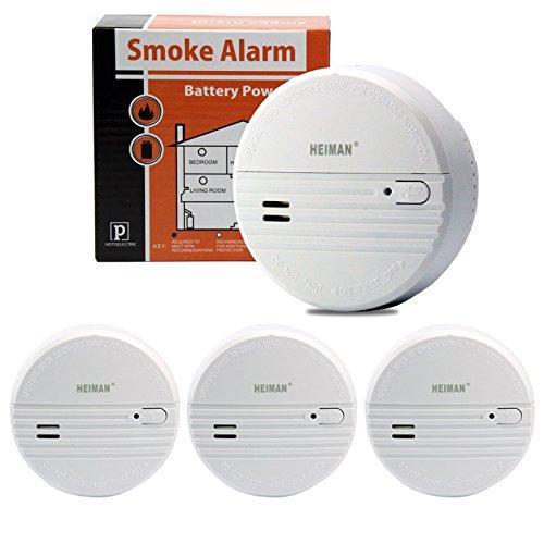 HEIMAN 3-Jahres Rauchmelder/Feuermelder/Brandmelder mit Status LED und fotoelektrischen Sensor -...