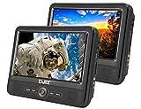 Djix PVS906-70DP Lecteur DVD double écran double lecteur 9 pouces Noir