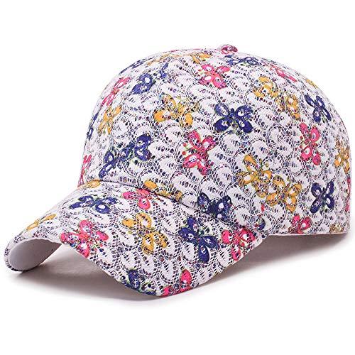 zhuzhuwen Frauen Visier atmungsaktive Blume Baseballmütze 2019 im Freien Sonnenschutz Sonnenhut koreanische Kappe 2 55-60CM