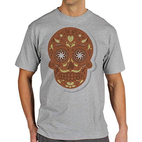 Skull Two Herren T-Shirt Grau