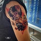 Tatuaggio Temporaneo Realistico di artista 'Santa Muerte 2' - ArtWear Tattoo - B0352 M