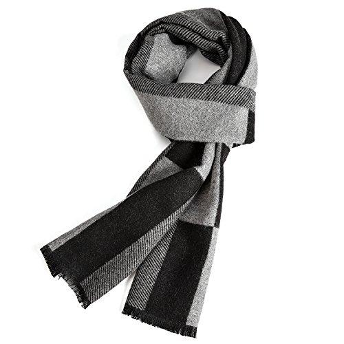 Warm Herbst und Winter Schal, VICWARM Herren Classic und Elegant Plaid Schals -