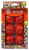 Emoji-Unisex 6Pack Angry Novelty Fun Golf Bälle, mehrfarbig