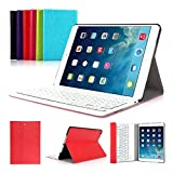 iPad Air 1(2013) iPad 2017 9.7'' CoastaCloud QWERTY Italiano Layout Ultrathin Custodia con Supporto e Tastiera Bluetooth staccabile per Apple iPad Air 1(A1474 A1475 A1476)iPad 2017(A1822,A1823)Rosso