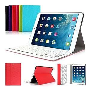 CoastCloud layout italiano QWERTY Ultrathin Executive Custodia Folio con Supporto e Tastiera Bluetooth per Apple iPad Air 1 (iPad 5) - Rosso