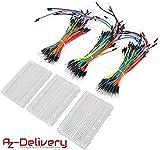 AZDelivery ⭐⭐⭐⭐⭐ Breadboard Kit - 3 x Jumper Wire m2m/f2m/f2f + 3er Set MB102 Breadbord für Arduino