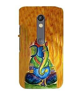 Fiobs Designer Back Case Cover for Moto G Play (4th Gen) :: Motorola Moto G4 Play (Ganpati Bappa Ganesha Modak In Hands)