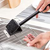 3 in 1 Plastic BBQ Grill Cleaning Brush with Scrapper