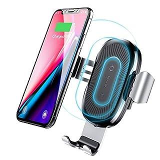 SXGX Wireless Car Charger Halterung, Wireless Charger Car Halterung, Gravity Car Vent Handyhalter, 10 Watt Lade, Standard-Lade Für iPhone X / 8/8 Plus