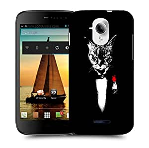Snoogg Angry Cat Designer Protective Back Case Cover For MICROMAX A117