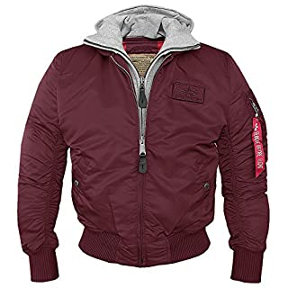 MA1 D TEC Flight Jacket Burgundy, Burgundy Red, Medium