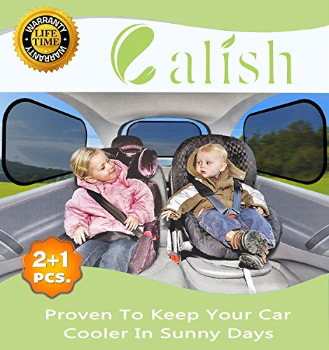 Calish Car Sun Shades (3 Pack) Universal Baby