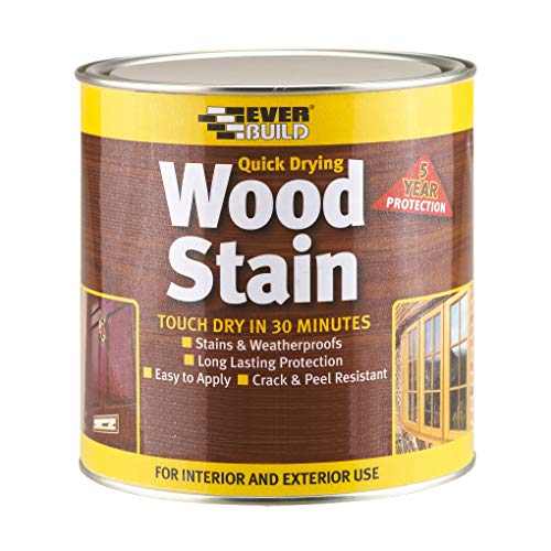 Everbuild EVBWSAP750 Quick Dry Wood Stain Satin Antique Pine 750 ml