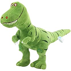 Zooawa Juguete Peluche de Dinosaurio para Bebé, Niños - Lavable Peluche Infantil Juguete de Animal Tyrannosaurus rex, Inodoro Seguro Suave Linda 33CM Juguete para Niñias - Dinosaurio Verde