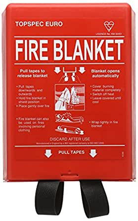 FIREMAST FB110 Fire Blanket, Fibre Glass, 100 cm x 100 cm