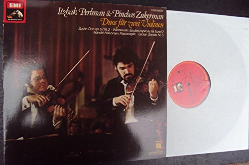 Duo-stereo (Duos für zwei Violinen. Sonate op. 3 Nr. 5, Etudes Caprices op. 18 Nr. 1 und 2, Passacaglia, Duo Concertante op. 67 Nr. 2. Itzhak Perlman, Pinchas Zukerman. Quadrophonie Stereo)