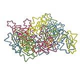 Sharplace 20 pcs bunt Metall Weihnachtsbaum Form Deko Büroklammern Motiv Heftklammern Note Papierklammern Set Lesezeichen - Mehrfarbig