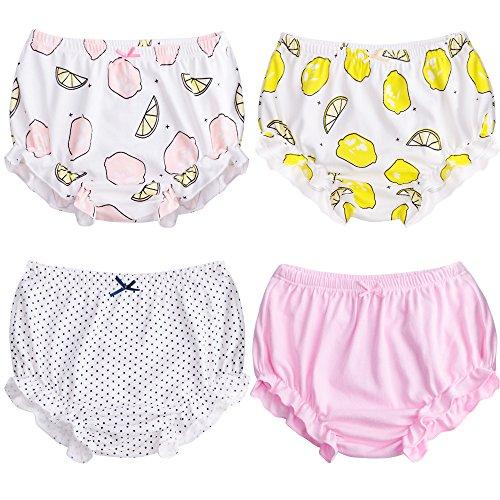 Ropa interior de entrenamiento para niñas pequeñas, de suave algodón, paquete de...