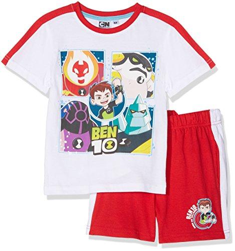 Cartoon Network Ben 10 Monster, Conjunto de Ropa para Niños, Rojo (Red 19-1763 TC), 8 Años