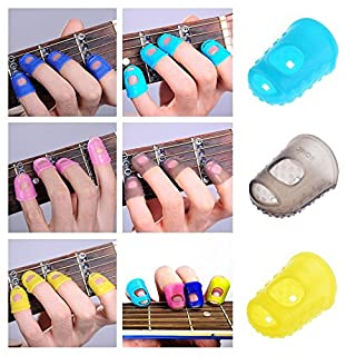 ❤❃ Afdiscount Clearance ❤❃, 4 PCS Silicone Guitar Thumb Bass Finger Picks Protector Plectrum Anti-Scalding F