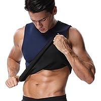 MISS MOLY Hot Shaper|Adelgazante Neopreno Efecto Sauna Camiseta Undershirt para Hombre Waist Trainer Slimming Vest Deportivo Shapewear