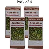 Herbal Hills Arsohills 60 Tablets - (Pack Of 4) Hemorrhoid Treatment, 500mg Tablet For Piles - Natural Hemorrhoid...
