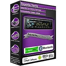 Toyota Yaris DAB Radio, Pioneer estéreo reproductor de CD USB AUX, Bluetooth Manos libres