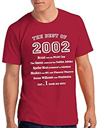 """Boys """"The Best of 2002"""" 16th Birthday T Shirt Gift, 100% Soft Cotton"""