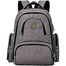 16 bolsillos organizador de bebé bolsa de pañales resistente al agua Oxford tela mochila de viaje