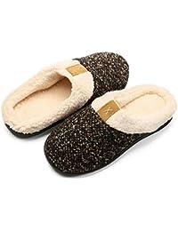 Inverno Pantofole da casa per Uomo Donna Memoria Schiuma Ciabatte Scarpe in  Caldo Peluche Cotone - Morbido 831235d8a97