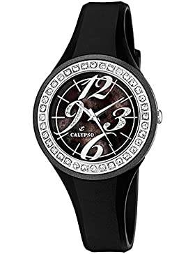 Calypso Uhr cal-15097–Armbanduhr Damen, Armband aus Kunststoff Farbe schwarz